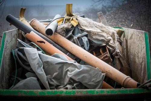 Construction debris removal services by Junk Doctors